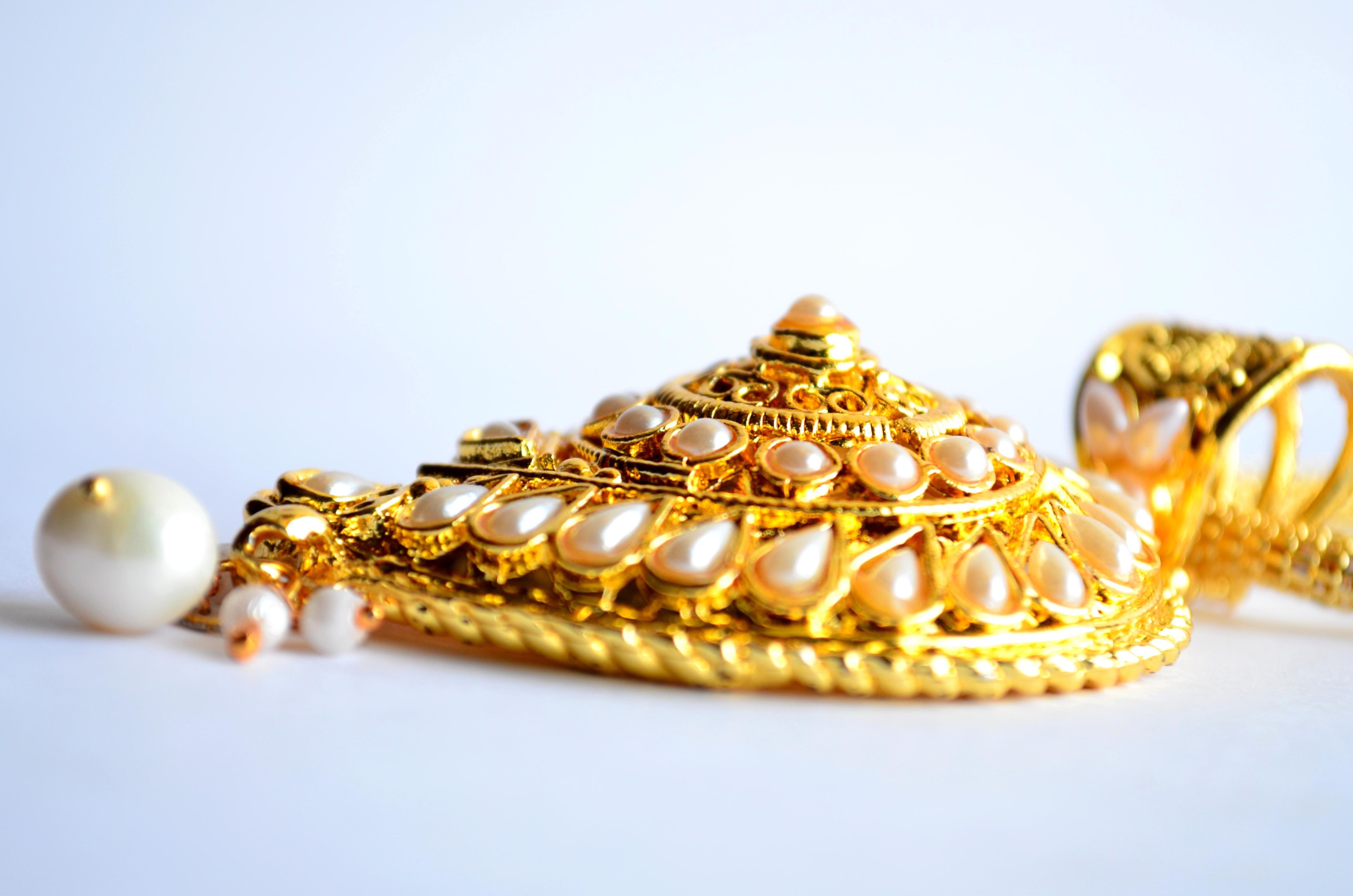 gold, ornaments, pearl