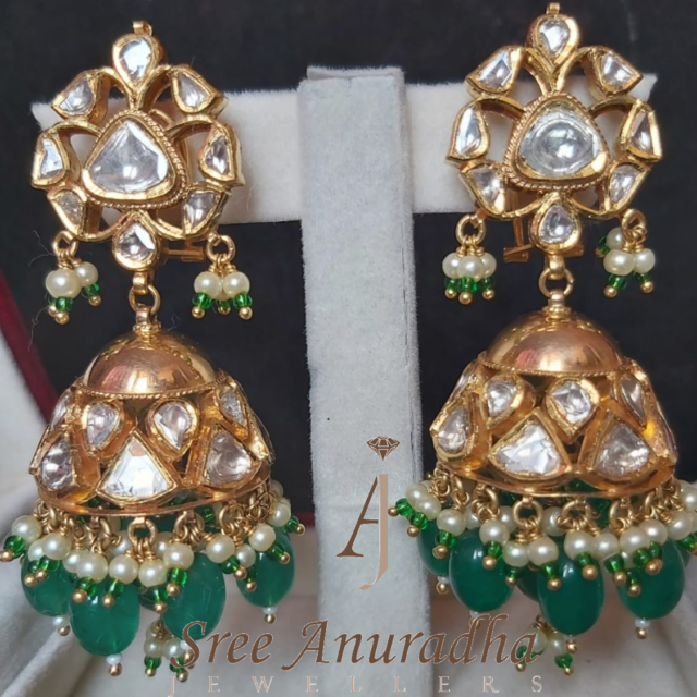 Ear rings Green