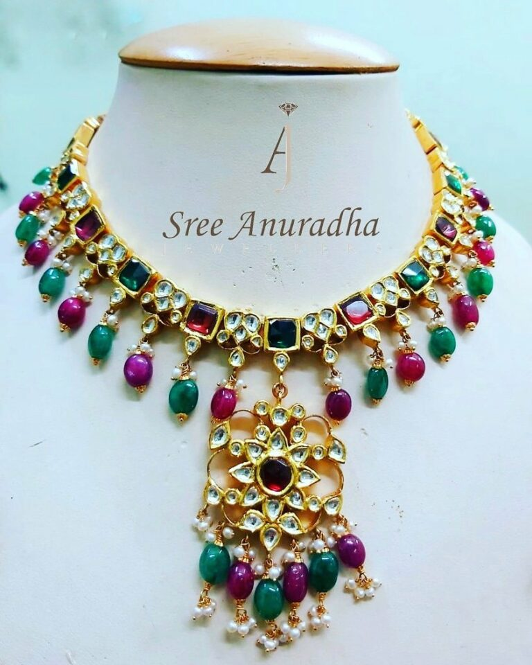 Kundan Necklace - 65 grams